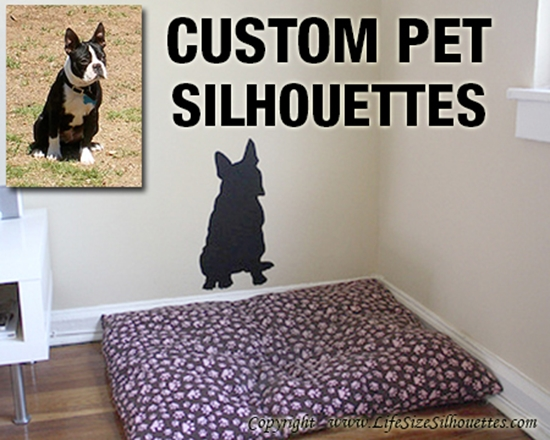 Picture of Custom  Pet Silhouette Decal (Custom Wall Silhouettes)